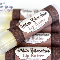White Chocolate All Natural Cocoa Butter and Beeswax Lip Butter,Chocolate Lip Balm,Lipbalm,All Natural Lip Balm,Beeswax Lip Balm