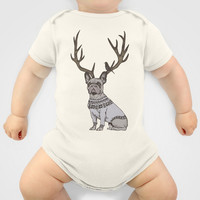 Deer Frenchie  Baby Clothes by Huebucket