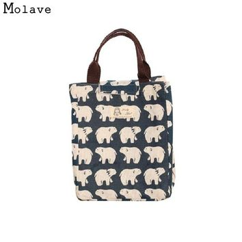 Naivety Canvas Lunch Bag New Portable Insulation Package Waterproof Printing Tote 11S60926 drop shipping