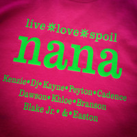 Nana Shirts- Grandkids- Mothers Day- Grandparents Day- Grandma Shirts- Grandma- Papa- Papa Shirts- grandparents shirts-