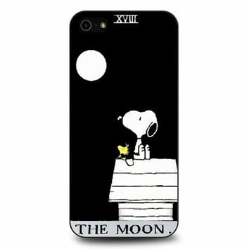 Snoopy The Moon iPhone 5/5s/SE Case