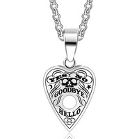 Stainless Steel Pendant Ouija Board Necklace 24 Inch Chain