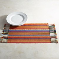 Feliz Striped Placemat with Fringe