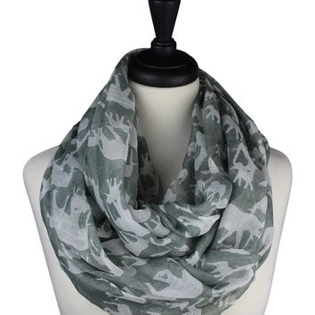 KnitPopShop Elephant Infinity Circle Scarf for Women
