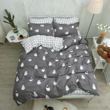 Shaun the Sheep bedding sets duvet cover Bed Linen pillow cases plaid bed sheets for Children lovely Best-selling bedclothes