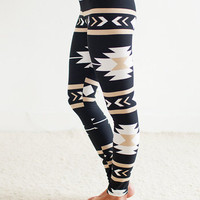 Dark Storm Aztec Leggings