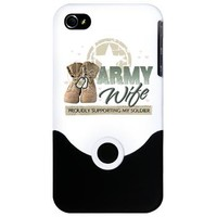 Army Wife supporting iPhone 4 Slider Case> Army Wife supporting > militaryprideshop.com
