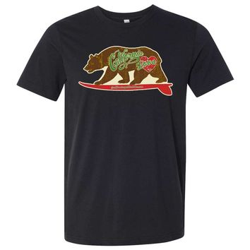 California Love Vintage Surfboard Asst Colors Mens Fitted Tee