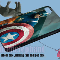 Captain america superheroes for iPhone 4/4S/5/5S5C Case, Samsung Galaxy S3/S4 Case, iPod Touch 4/5 Case