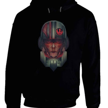 Star Wars The Force Awakens Resistance Army Illustrations Fan Art Hoodie
