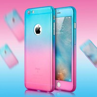 Luxury Ombre Gradient Case For iPhone/360 Degree Full Body Cover