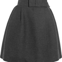 Lanvin - Wool-blend grosgrain skirt