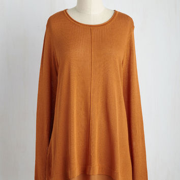 What Canny Say? Tunic in Pumpkin | Mod Retro Vintage Sweaters | ModCloth.com