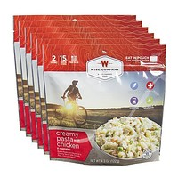 Wise Outdoor Creamy Pasta and Vegetables with Chicken Camping Food - Pack of 6