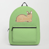White-Tailed Deer Spring Green Backpacks by Artist Abigail