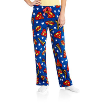 Walmart: Women's Superman Plush Sleep Pants