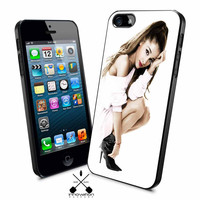 White Ariana iPhone 4s iphone 5 iphone 5s iphone 6 case, Samsung s3 samsung s4 samsung s5 note 3 note 4 case, iPod 4 5 Case
