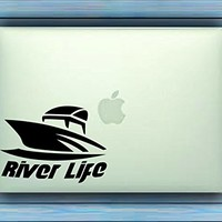 Dabbledown Decals River Life with Boat Car Window Windshield Lettering Decal Sticker Decals Stickers