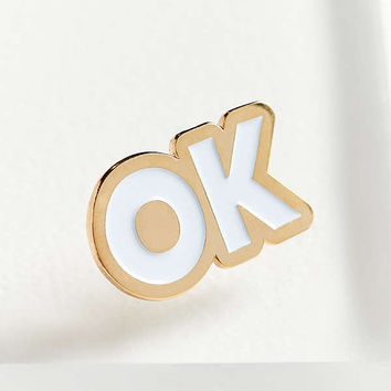 The Good Twin OK Pin | Urban Outfitters