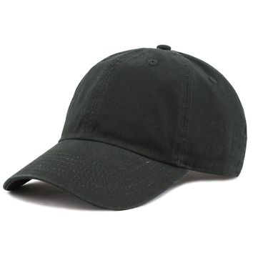 e5e02f5c2d113f THE HAT DEPOT Unisex Blank Washed Low Profile Cotton and Denim B
