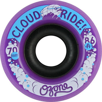Cloud Ride! Ozone 70mm 86a Purple Longboard Wheels
