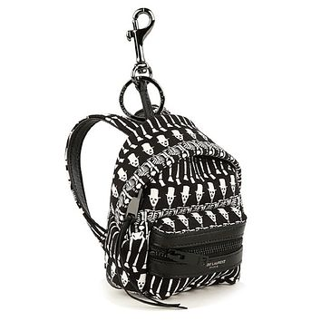 Saint Laurent Black and White Unisex Skeletons Backpack Key Chain 441911