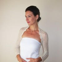 Ivory BRIDAL BOLERO SHRUG / Lace Wedding Bolero