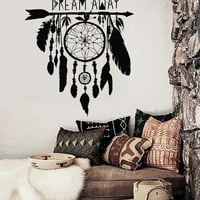Vinyl Wall Decal Dream Catcher Dreamcatcher Amulet Bedroom Stickers Unique Gift (ig3355)