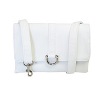 White Flat Belt Bag