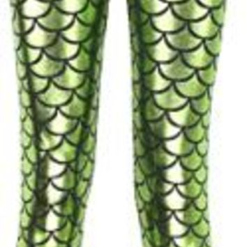 Mermaid Scale Pattern leggings