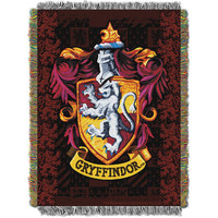 Harry Potter Gryffindor Shield  Woven Tapestry Throw (48inx60in)