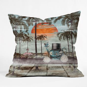 Belle13 Alice Goes To California Throw Pillow