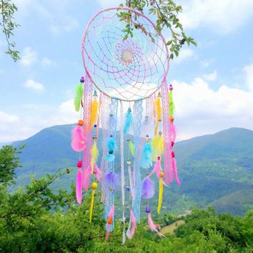 Lalita Devi - the Playful Goddess Dreamcatcher with milky quartz crystal