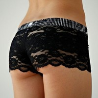 FOXERS -  Black Lace Boxers