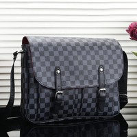 Louis Vuitton LV New fashion monogram check leather women men shoulder bag