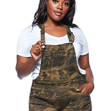 Womens Plus Ripped Fashion Hot Sexy Overall Shorts RJSO-115