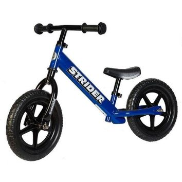 QIYIF strider 12 balance bike classic kids no pedal learn to ride pre bike blue new