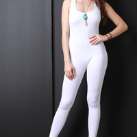Sleeveless Jersey Knit Jumpsuit
