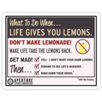 Portal- When Life Gives You Lemons (Sticker Version!)