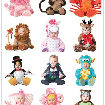 Christmas toddlers Baby Infant monster animal Onesuit Animal Cosplay plush Shapes Costume Fantasia carnival outfit