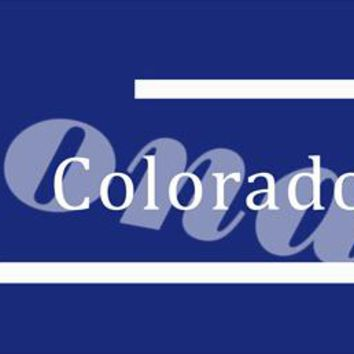 Colorado RockiesTailgate Banners Flags 2*8ft Customized Hanging Flag 110g Knitted Polyester With Gromets