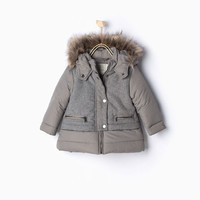 Combined quilted coat - Coats-Baby girl-KIDS-PROMOCIJA | ZARA Slovenia