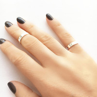 Sterling Silver Midi Ring • Band Ring •  Adjustable Band • Stacking Rings • Knuckle Ring • Silver Pinky Ring • Sterling Silver Ring