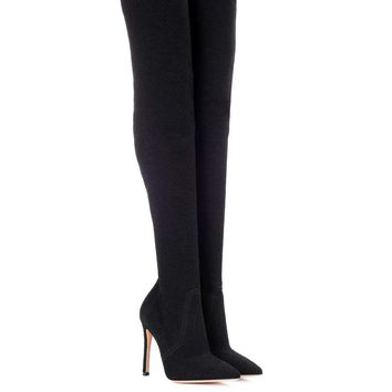 Knitted over-the-knee boots