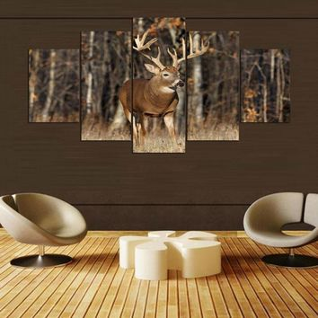Huge Buck Deer Wildlife Canvas
