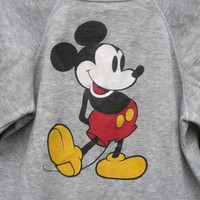 Vintage 1980's Mickey Mouse Sweatshirt in Heather Grey, Adult size Medium, ready to ship.