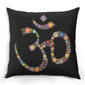 Flower Pattern Om Pillow