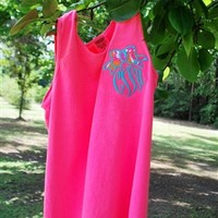 Lilly Pulitzer Monogrammed Pocket Tank - Throw A Tantrum