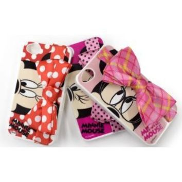 Disney Minnie Mouse Ribbon Custom Cover for iPhone 4S/4 (Red)