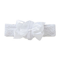 Starting Out Satin Lace Headband - White ONE
